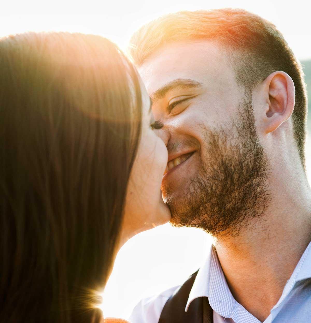 Küssen mit 3-Tage-Bart ohne piksen