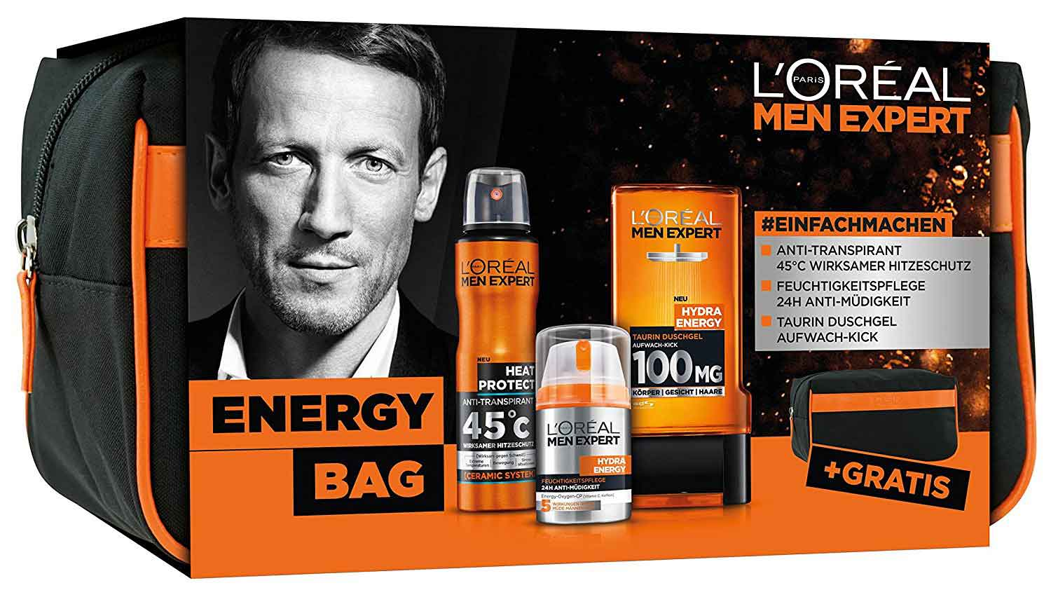 L'Oréal Men Expert Energy Bag Pflegeset
